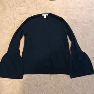 Autumn cashmere bell sleeve cashmere sweater